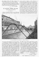 """LE NOUVEAU CHEMIN De FER  Entre  """" BARMEN Et ELBERFELD """" En ALLEMAGNE   1899 - Chemin De Fer"""