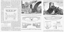 """LES PONTS SUR LE """" TIBRE """" Dans L'ANCIENNE ROME   1899 - Autres"""