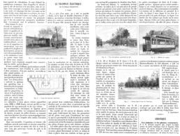 """LE TRAMWAY ELECTRIQUE  DE  """" BASTILLE-CHARENTON """"  à PARIS  1899 - Chemin De Fer"""