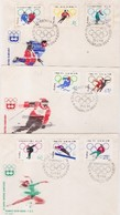 POLONIA - POLONIA 3 FDC OLIMPIADI INNSBRUCK - Inverno1964: Innsbruck
