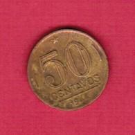 BRAZIL   50 CENTAVOS 1944 (KM # 557a) #5232 - Brazil