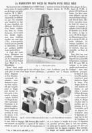 LA FABRICATION DES ROUES DE WAGONS D'UNE SEULE PIECE   1899 - Chemin De Fer