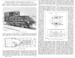 LOCOMOTIVE ELECTRIQUE à GRANDE VITESSE De La COMPAGNIE Du P.L.M    1899 - Chemin De Fer