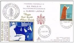 VATICANO -3 9 1971 PAPA PAOLO VI VIAGGIO CASTEL GANDOLFO /ALBANO L VISITA LE MONACHE BRASILIANE DI ALBANO LAZIALE - Papi