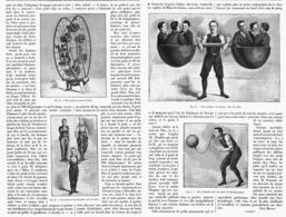"""CIRQUE  """" LES EXERCICES DE FORCE  """" UN HOMME PHENOMENE - NINO Au CIRQUE D'HIVER   1899 - Théâtre"""