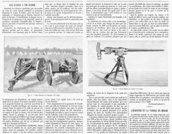 LES CANONS à TIR RAPIDE ( FLETCHER Et  HOTCKISS  ) 1899 - Militaria