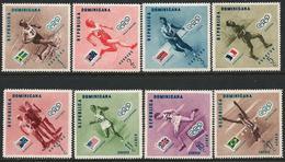 Dominican Republic 1957 Scott 479-483 C100-102 MNH Melbourne Olympics - Dominicaine (République)