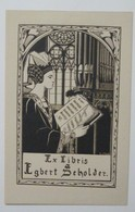 Ex-libris Illustré Belgique XXème - Egbert Scholder - Ex Libris