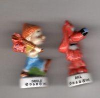 2 Fèves Brillantes 2003 - BOULE ET BILL - Comics