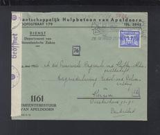Netherlands Official Cover 1941 Apeldoorn - Briefe U. Dokumente