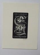 Ex-libris Illustré Belgique XXème - L. GEERLANDT - Golf, équitation - Ex Libris