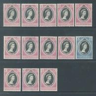 MALAYA - MH/* - 1953 -  ELIZABETH CORONATION -  Lot 18440 - SOME WITH BROWN TRACES - Grande-Bretagne (ex-colonies & Protectorats)