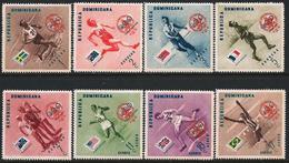 Dominican Republic 1957 Scott B6-10 CB4-6 MNH Melbourne Olympics, Lord Baden Overprint - Dominicaine (République)
