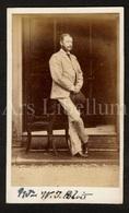 Photo-carte De Visite / CDV / Homme / Man / Photographer Charles Dabis / Derbyshire / England / W. J. Blois / 2 Scans - Photos