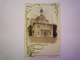 """PARIS  -  EXPO De  1900  :  PAVILLON Du  TRANSVAAL  -  Carte  PUB  """" A La Fermière """"   - Expositions"""