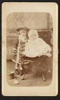 Photo-carte De Visite / CDV / Children / Enfants / Baby / Photographer Walter Fisher / Filey / England / 2 Scans - Photos
