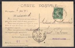 Semeuse N°159 De Roulette Sur Carte Du Bon Marché, état Voir Scan. - 1906-38 Semeuse Camée