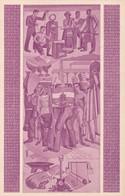 EXPOSICION PLAN QUINQUENAL. PINTURA MURAL OFRENDA DEL TRABAJO A...CASA DE LA MONEDA, BUENOS AIRES. FDC 1949 ENTIER-BLEUP - Interi Postali