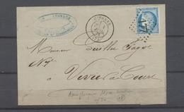 1874 Givonne, GC 177 + C 17, Remplaçant D'Alsace-Lorraine D'Ars-s-Moselle X4625 - Poststempel (Briefe)