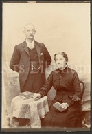 Cabinet Card / Cabinet Photo / Older Couple / Photographer / Man / Homme / Woman / Femme - Photos
