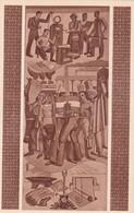 EXPOSICION PLAN QUINQUENAL. PINTURA MURAL OFRENDA DEL TRABAJO A...CASA DE LA MONEDA, BUENOS AIRES. AÑO 1949 ENTIER-BLEUP - Interi Postali