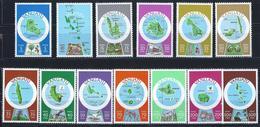 VANUATU - ANNÉE 1980 - CARTOGRAPHIE DES ILES - 13 TIMBRES NEUFS** GOMME D'ORIGINE - Vanuatu (1980-...)