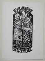 Ex-libris Illustré Belgique XXème - Dr G. STOEL - Ex-libris