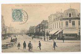51 - Reims Place D'erlon Vue Prise De La Gare Hotel Continental 1906 - Reims