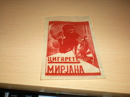 Cigarette-Mirjana-Glassine--Paper-Bag 1930 - Boites à Tabac Vides