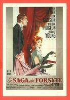 CINEMA-CARTOLINA MANIFESTO FILM-LA SAGA DEI FORSYTE-CAROL FLINN-GREER GARSON-WALTER PIDGEON-ROBERT YOUNG-S.CAMPEGGI - Manifesti Su Carta
