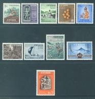 CEYLON - MNH/** EXCEPT Rs 2 GRATIS - 1954 -  Yv 292-301 -  Lot 18441 - SMALL PRICE - Sri Lanka (Ceylan) (1948-...)