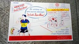 Buvard Café San Rivo Arrivée Cyclisme Vélo Humour Sport - Transport