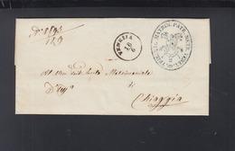 Lettera 1863 Venezia Per Chioggia - 1861-78 Vittorio Emanuele II