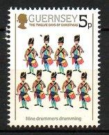 GUERNESEY. N°312 De 1984. Tambours. - Musique