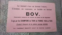 Buvard Bov Concentré  Viande De Boeuf  Légumes Exigé Par Les Champions Du Tour De France 1924  Cyclisme Vélo  Sport - Transports