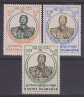 CAMBODGE - N° 75/77 - Roi Norodom (1835-1904). Série Complète. Luxe. - Kambodscha