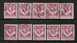 NORTHERN RHODESIA  Scott # 64 USED WHOLESALE LOT OF 10 (WH-281) - Stamps