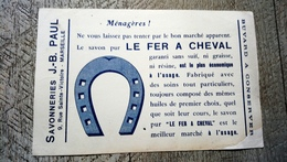 Buvard Le Savon Pur Fer à Cheval Savonnerie Paul Marseille - Produits Ménagers