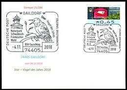 97566) BRD - Karte - SoST 74405 GAILDORF Vom 04.11.2018 - Star - Vogel Des Jahres, Naturpark - BRD