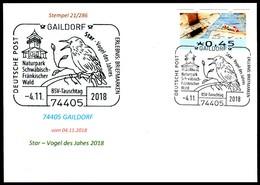 97567) BRD - Karte - SoST 74405 GAILDORF Vom 04.11.2018 - Star - Vogel Des Jahres, Naturpark - BRD
