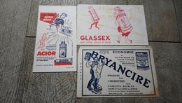 Buvard Lot 3 Buvards Acior Bryancire Glassex Produits Ménagers - Produits Ménagers