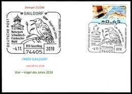 97568) BRD - Karte - SoST 74405 GAILDORF Vom 04.11.2018 - Star - Vogel Des Jahres, Naturpark - BRD