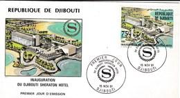 FDC INAUGURATION DU SHERATON HOTEL TP 543 VOIR SCANS - Djibouti (1977-...)