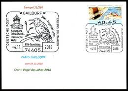 97570) BRD - Karte - SoST 74405 GAILDORF Vom 04.11.2018 - Star - Vogel Des Jahres, Naturpark - BRD