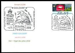 97571) BRD - Karte - SoST 74405 GAILDORF Vom 04.11.2018 - Star - Vogel Des Jahres, Naturpark - BRD
