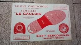 Buvard Semelles Le Gaulois établissement Bergougnan Clermont Ferrand - Chaussures