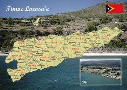 1 MAP Of East Timor Timor-Leste * 1 Landkarte Von Osttimor - Im Kleinen Bild Die Hauptstadt Dili * - Landkarten