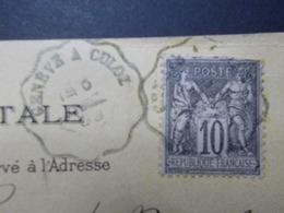 Marcophilie  Cachet Lettre Obliteration - Convoyeur Geneve à Culoz - 1899 -  (2184) - Marcophilie (Lettres)