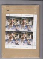 MONACO 1 Feuille Datée 02.03.98 De 4 T Neufs N° YT 2156 -1998 Charles Garnier Opéra De Paris - Neufs