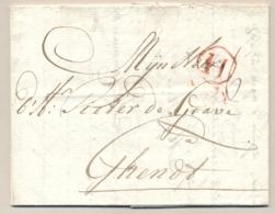 Nederland / België - 1777 - H In Cirkel Op Complete Vouwbrief Van Amsterdam Naar Ghendt / Gand - Nederland